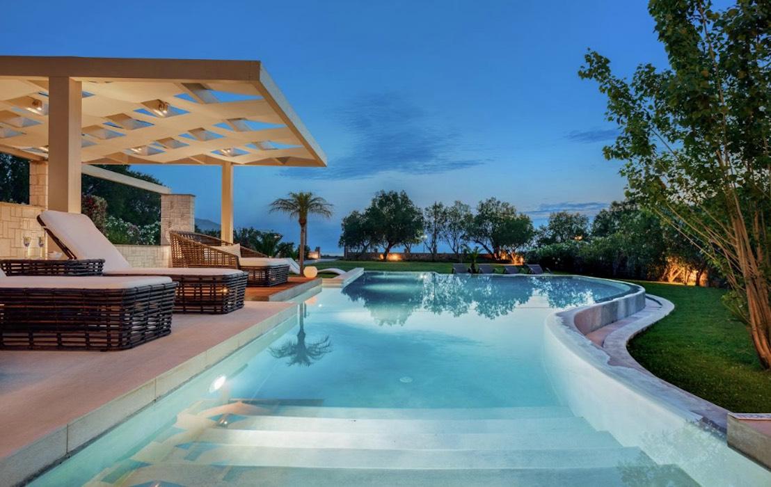 Beachfront Villa at Chania Crete - Rent Villas at Chania