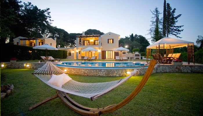 Villas for rent on the beach in Corfu. Luxury villas, Greek island villa, Villas for rent,  Holidays villas, Rental villas Greece.
