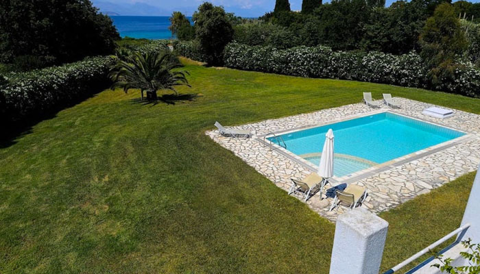 Villa with Pool near the sea, Corfu. Luxury villas, Greek island villa, Villas for rent,  Holidays villas, Rental villas Greece.