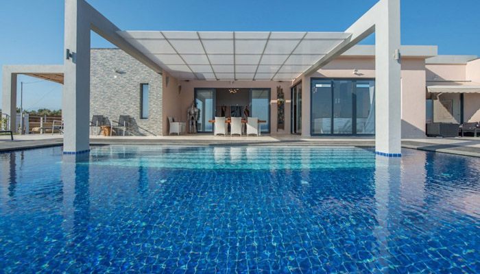 Villa near the sea at Akrotiri Chania. Luxury villas, Greek island villa, Villas for rent,  Holidays villas, Rental villas Greece.