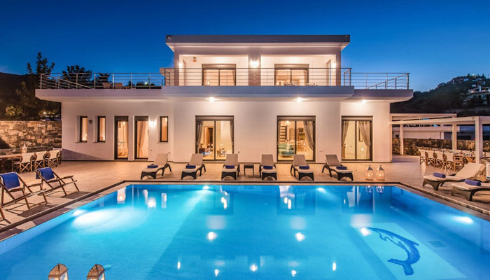 Luxury Villa Rental in Agios Nikolaos. Luxury villas, Greek island villa, Villas for rent,  Holidays villas, Rental villas Greece.