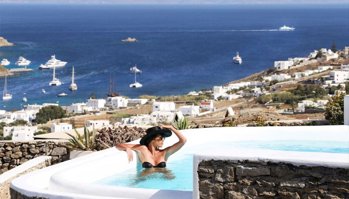 Villa at Kanalia Mykonos with Sea view. Luxury villas, Greek island villa, Villas for rent,  Holidays villas, Rental villas