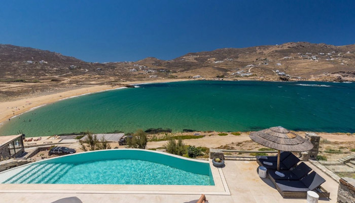 Sea View Villa in Ftelia Mykonos. Luxury villas, Greek island villa, Villas for rent,  Holidays villas, Rental villas