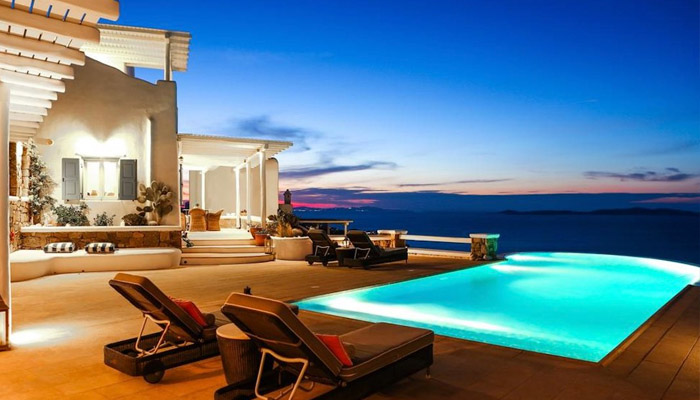 Villa near the Sea at Houlakia Mykonos. Luxury villas, Greek island villa, Villas for rent,  Holidays villas, Rental villas