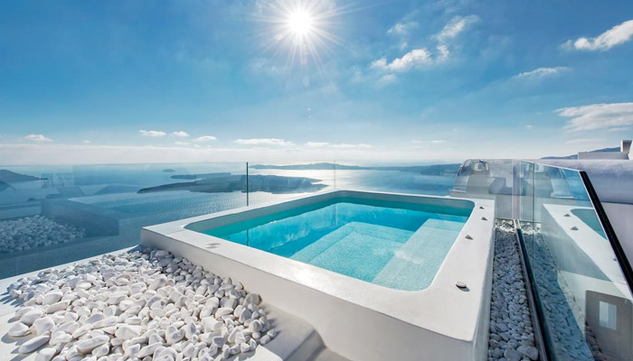 Villa Caldera Santorini. Luxury villas, Greek island villa, Villas for rent,  Holidays villas, Rental villas Greece.