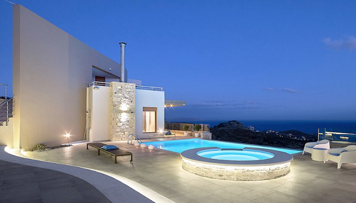 Villa with heated pool Heraklio. Luxury villas, Greek island villa, Villas for rent,  Holidays villas, Rental villas Greece.