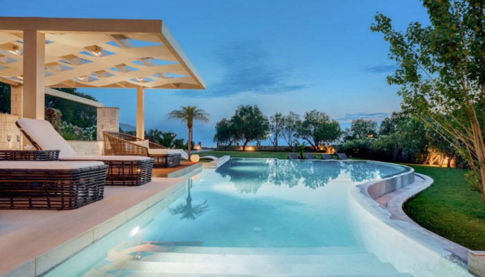 Beachfront Villa at Chania. Luxury villas, Greek island villa, Villas for rent,  Holidays villas, Rental villas Greece.