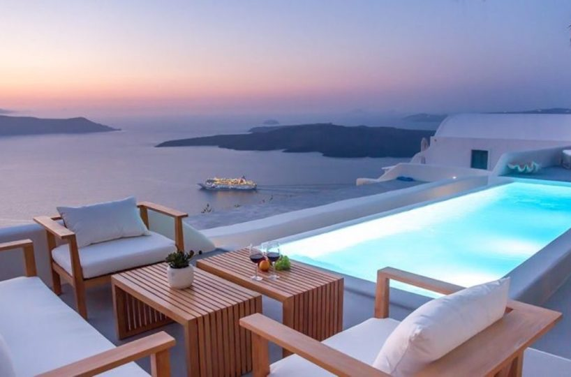Santorini Luxury Estate Villa At Caldera for sale