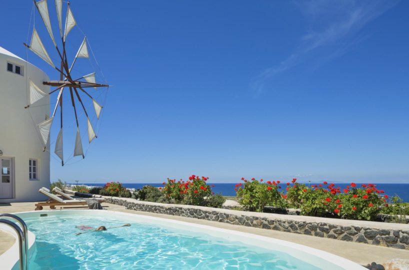 Windmill Rental Villa Santorini