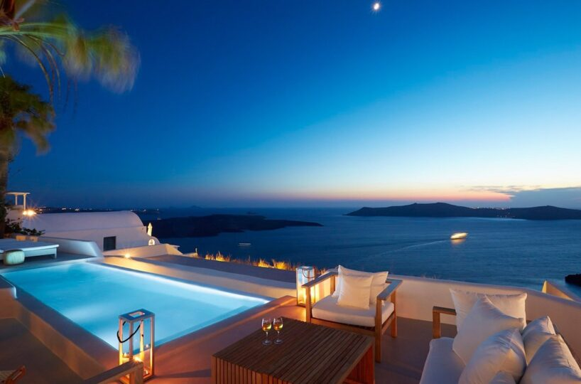 Luxury Holiday Villa Santorini Firostefani Caldera, Holiday Villas in Greece